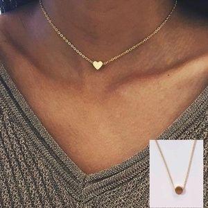 gold choker strand pendant